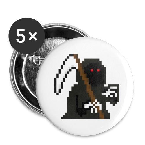 Pixelart Grim Reaper - Buttons large 2.2''/56 mm(5-pack)