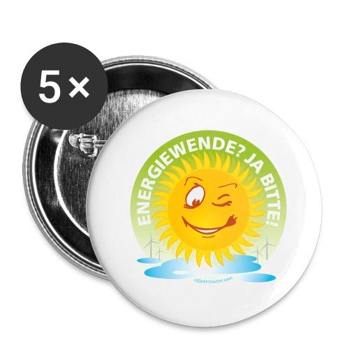 Energiewende Ja bitte - Buttons groß 56 mm (5er Pack)