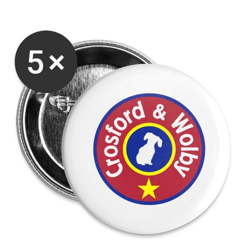 Crosford & Wolby - Buttons large 2.2''/56 mm(5-pack)