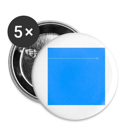 sklyline blue version - Lot de 5 grands badges (56 mm)
