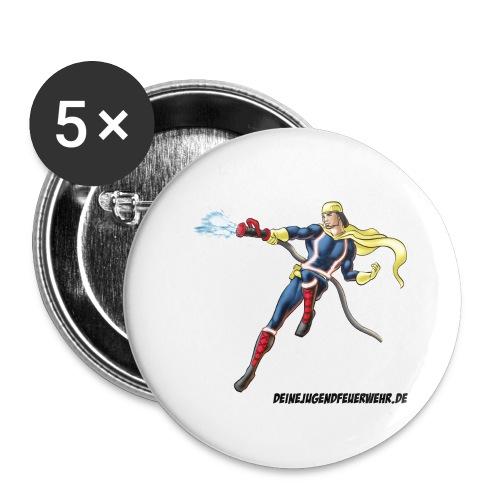 Captain Firefighter - Buttons groß 56 mm (5er Pack)
