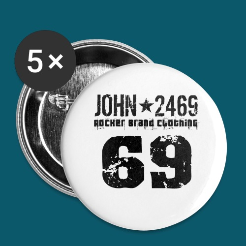 john 2469 numero trasp per spread nero PNG - Confezione da 5 spille grandi (56 mm)