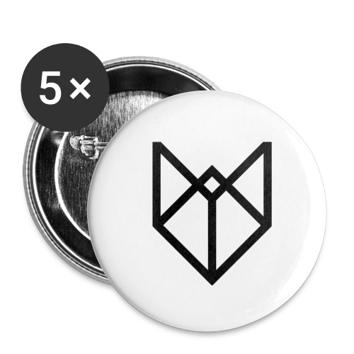 big black pw - Buttons groot 56 mm (5-pack)