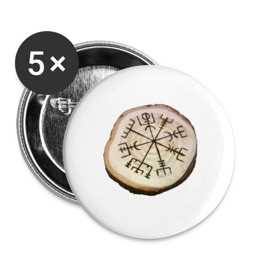 VHEH - Vegvísir - Buttons large 2.2''/56 mm (5-pack)