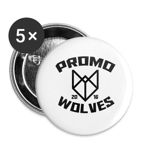 Big Promowolves longsleev - Buttons groot 56 mm (5-pack)