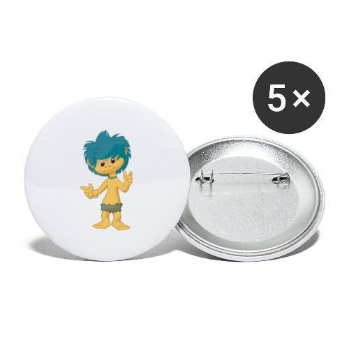 Plumps - Buttons groß 56 mm (5er Pack)