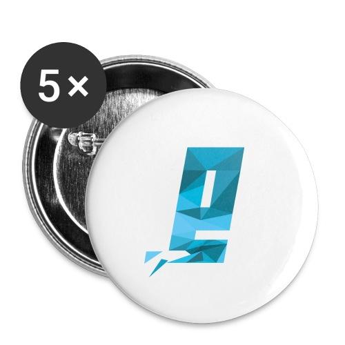 Eventuell Logo small - Shirt White - Buttons groß 56 mm (5er Pack)