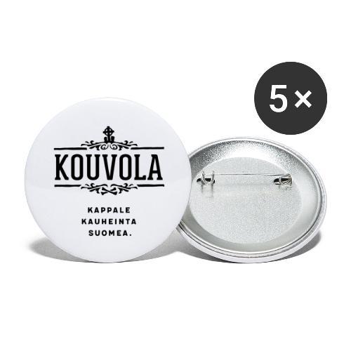 Kouvola - Kappale kauheinta Suomea. - Rintamerkit isot 56 mm (5kpl pakkauksessa)