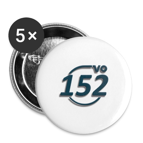 152VO Klassenzeichen petrol ohne Text - Buttons groß 56 mm (5er Pack)