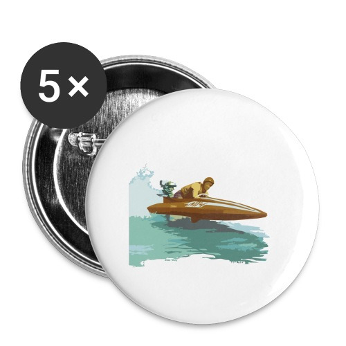 Stock Outboard Class A B Racer ohne Text - Buttons groß 56 mm (5er Pack)