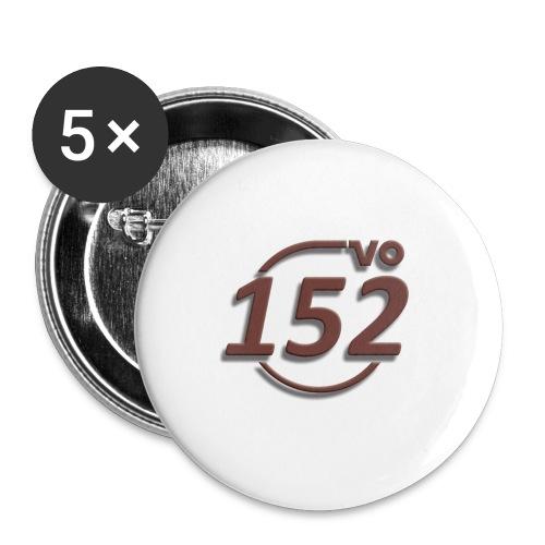 152VO Klassenzeichen mahogany ohne Text - Buttons groß 56 mm (5er Pack)