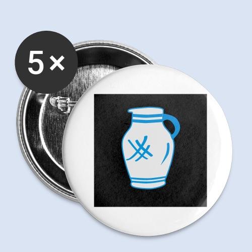 Mein Frankfurt Bembeltown - Buttons groß 56 mm (5er Pack)