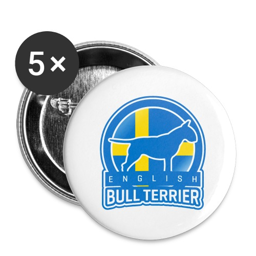 Bull Terrier Sweden - Buttons groß 56 mm (5er Pack)