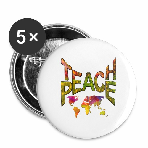 Teach Peace - Buttons large 2.2''/56 mm (5-pack)