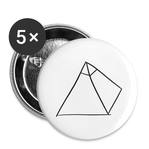 Tasse Blanche/Noir - Logo Noir P Y R A - Lot de 5 grands badges (56 mm)