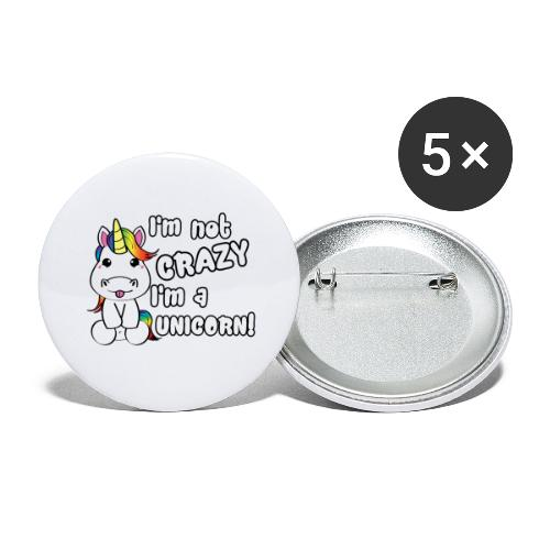 unicorn - Buttons groot 56 mm (5-pack)