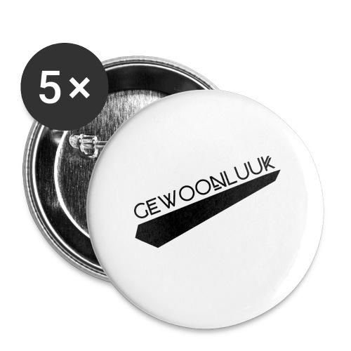 GewoonLuuk - Buttons groot 56 mm (5-pack)