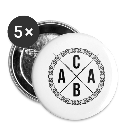ACAB All Cyclists Are Beautiful - Buttons groß 56 mm (5er Pack)