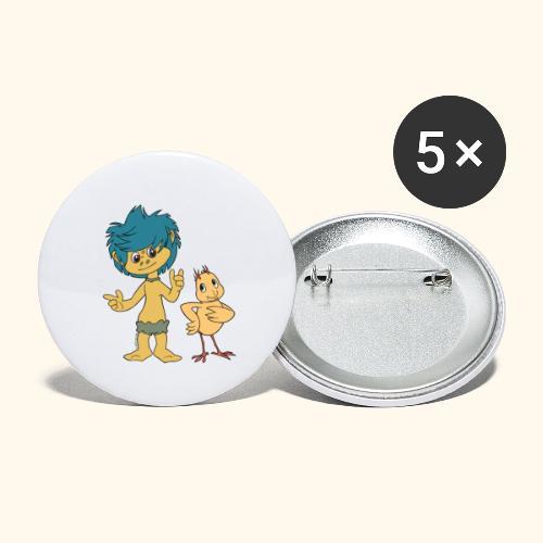 Plumps & Küken - Buttons groß 56 mm (5er Pack)