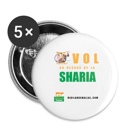 volaudessus - Lot de 5 grands badges (56 mm)
