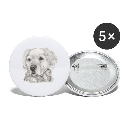 golden retriever - Buttons/Badges stor, 56 mm (5-pack)
