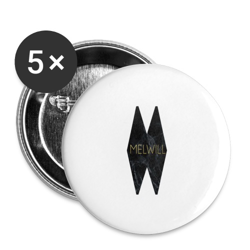 MELWILL black - Buttons large 2.2''/56 mm (5-pack)