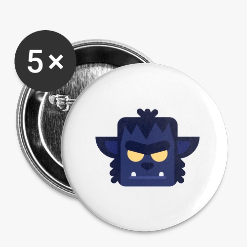 Mini Monsters - Lycan - Buttons/Badges stor, 56 mm (5-pack)