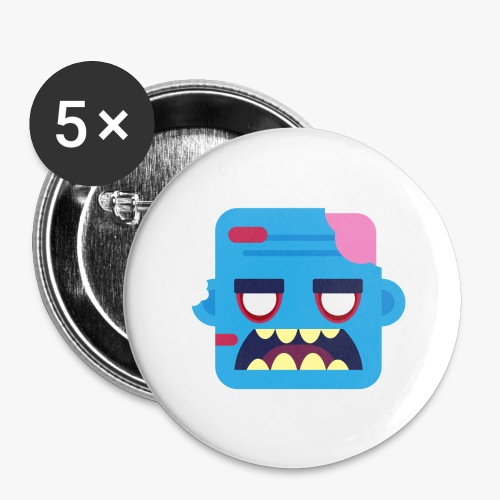 Mini Monsters - Zombob - Buttons/Badges stor, 56 mm (5-pack)