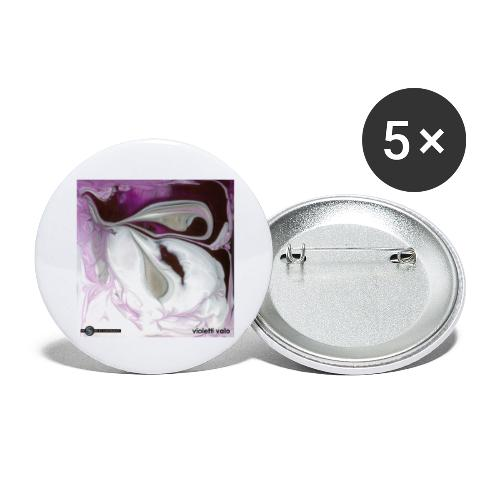 TIAN GREEN Mosaik CH034 - violetti valo - Buttons groß 56 mm (5er Pack)