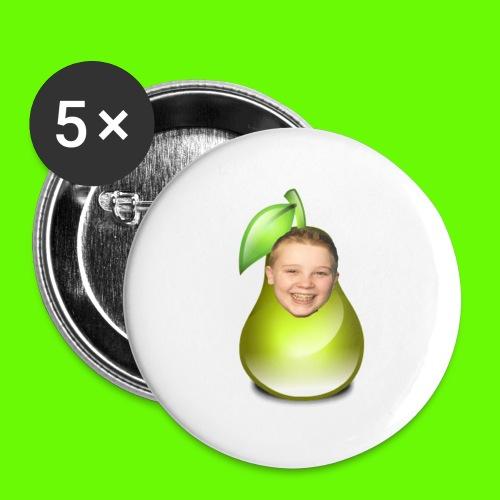 button met tjeerd als peertje! - Buttons groot 56 mm (5-pack)