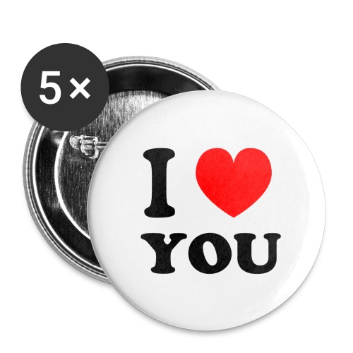 I love shirts en mee - Buttons groot 56 mm (5-pack)