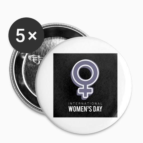 Journée de la femme - Lot de 5 grands badges (56 mm)