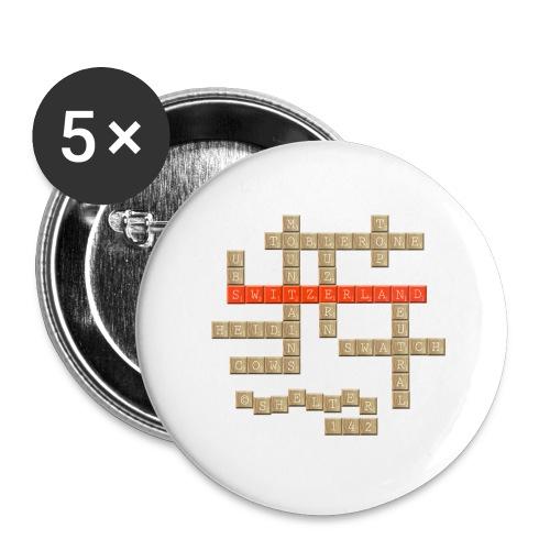 Scrabble - Switzerland - Buttons groß 56 mm (5er Pack)
