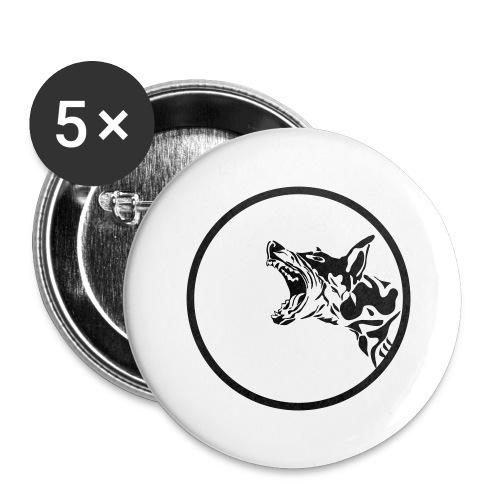 dog in a circle frame - Lot de 5 grands badges (56 mm)