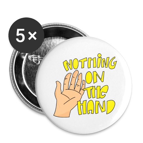 Nothing on the hand - Buttons groot 56 mm (5-pack)