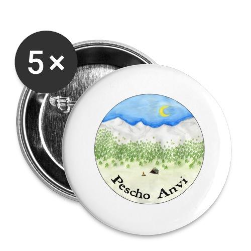 Pescho Anvi - Confezione da 5 spille grandi (56 mm)