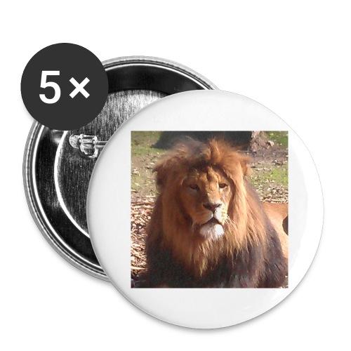 Lejon - Stora knappar 56 mm (5-pack)