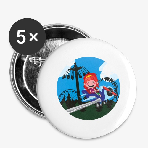 Themeparkrides - Airplanes - Buttons groot 56 mm (5-pack)