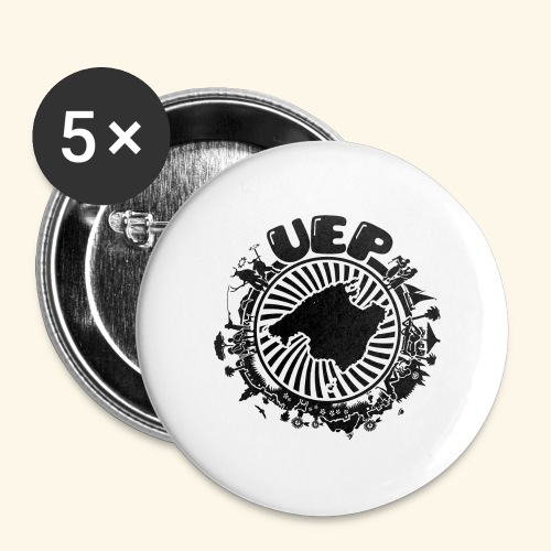 UEP white background - Buttons large 2.2''/56 mm (5-pack)
