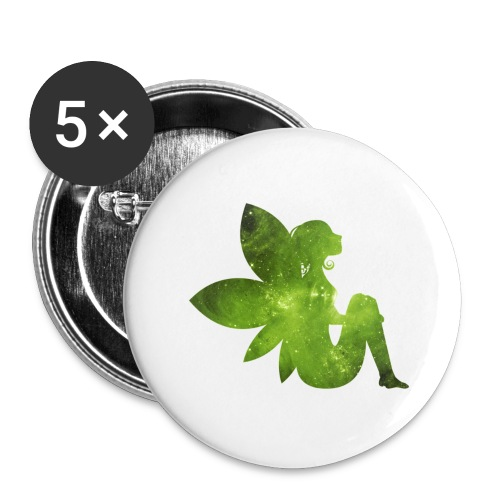 Green fairy - Stor pin 56 mm (5-er pakke)