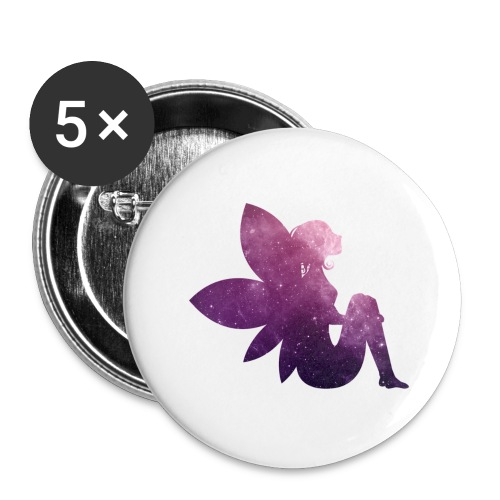 Purple fairy - Stor pin 56 mm (5-er pakke)