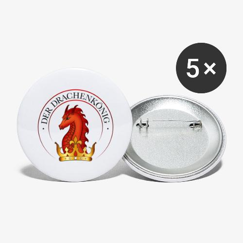 Logo  Der Drachenkönig  - Buttons groß 56 mm (5er Pack)
