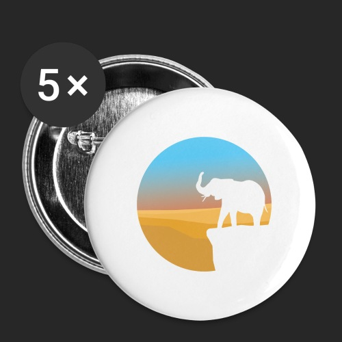 Sunset Elephant - Buttons large 2.2''/56 mm (5-pack)