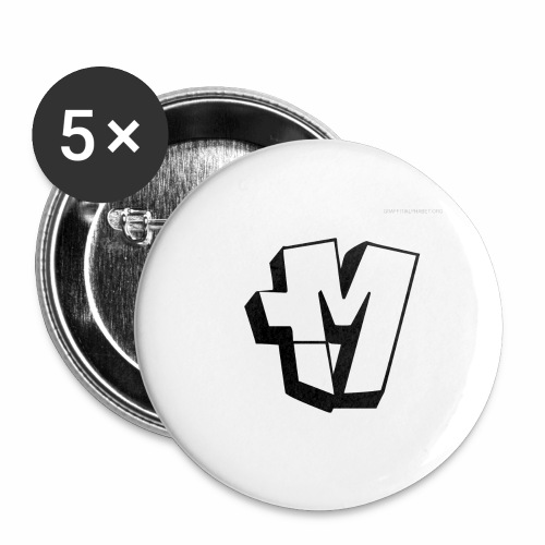 graffiti alphabet m - Buttons large 2.2''/56 mm (5-pack)