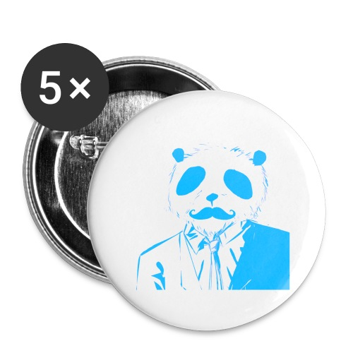 BluePanda Logo - Buttons large 2.2''/56 mm (5-pack)