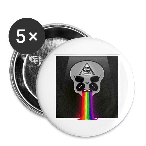 Alien Had - Buttons groß 56 mm (5er Pack)