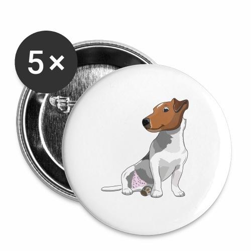 Jack Russell - Lot de 5 grands badges (56 mm)