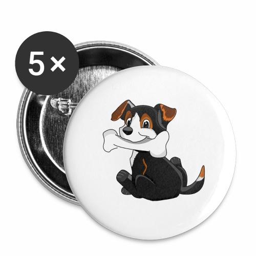Chiot - Lot de 5 grands badges (56 mm)