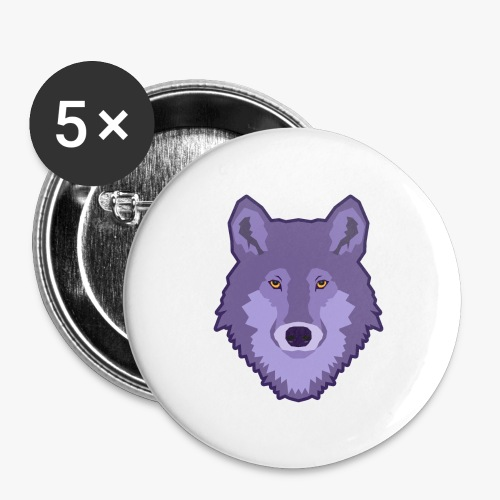 Spirit Wolf - Buttons/Badges stor, 56 mm (5-pack)