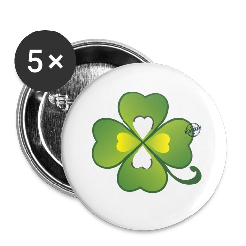 Clover - Symbols of Happiness - Buttons large 2.2''/56 mm(5-pack)
